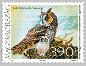 Magyar Posta bélyeg Erdei fülesbagoly